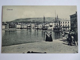 CHERSO CRES Quarnero Dalmazia Vecchia Cartolina Porto Animata AK Croazia - Croatie