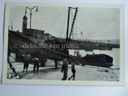 VEGLIA KRK Isola Dalmazia Vecchia Cartolina Pescatori AK Croazia 10 - Croazia