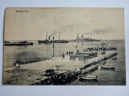 SENJ SEGNA DALMAZIA Vecchia Cartolina Luka Porto Navi Ship Kriegsmarine AK Croazia - Croazia