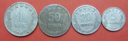 ALBANIA SET OF COINS 1964, 5,20,50 QINDARKA AND 1 LEK - Albania