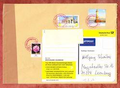 Grossbrief, MiF Leuchtturm Lindau U.a., Mannheim Nach Leonberg, Roter Nachtraeglich Entwertet 2017 (42372) - Covers & Documents