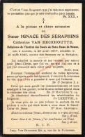Soeur Ignace Des Seraphins (1857 - 1923) Bidprentje - Images Religieuses