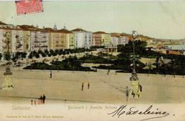 ESPAGNE SANTANDER BOULEVARD Y AVENIDA ALFONSO XII - Cantabria (Santander)