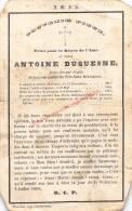 Frère Atoine Duquesne (1817 - 1860) Image Pieuse - Images Religieuses