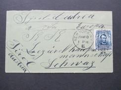 USA 1905 Nr. 142  EF Lincoln New York - Schwaz Tirol Österreich. Kleiner Brief ./ Minibrief - Briefe U. Dokumente