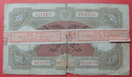 ALBANIA FISCAL REVENUE STAMP 50 GRAM GROUNDED TOBACCO ON 20 FRANGA ND 1939 - Albanien