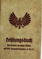 WK2 III°Reich Leistungsbuch Des Bundes Deutscher Mädel Jungmädelbund In Der HJ 1937 - Dokumente
