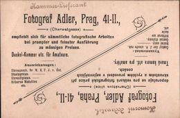 ! 1904 Autograph, Fotograf M.Adler, Prag, Prague, Photograph, Visitenkarte - Visiting Cards