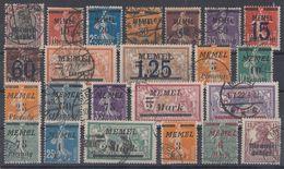 Memel Lot 23 Marken Gestempelt - Briefmarken