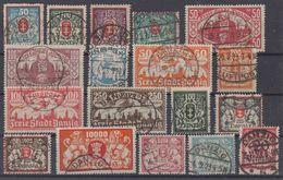 Danzig Lot 18 Marken Gestempelt - Briefmarken
