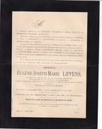 GAND MOERBEKE Eugène LIPPENS Burgemeester SAFFELAERE Conseiller Provincial Garde-civique 1816-1900 Doodsbrief - Décès