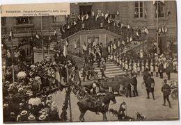TOURNUS - Fêtes Du Centenaire (12 Juill.1914) Arrivée Du Ministre - France