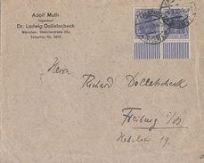 DR Brief Mef Minr.2x 87II UR Walze Karlsruhe 6.8.20 - Briefe U. Dokumente