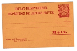 Metz Privat-Briefverkehr 2 Pfennig - Entier Poste Privée Ganzsache Stationery - Alsace-Lorraine