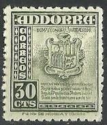 ANDORRA ESPAÑOLA 1948 Mi:AD-ES 45, Sn:AD-ES 42, Yt:AD-ES 45, Sg:AD-ES 46, Edi:AD-ES 50 ** MNH  18 Euros. - Spanisch Andorra
