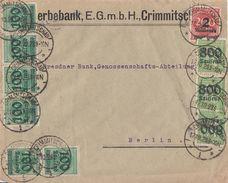 DR Brief Mif Minr.6x 290,3x 302,309A Crimmitschau 17.10.23 - Deutschland