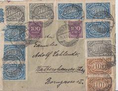 DR Brief Mif Minr.2x 250,5x 252,6x 253,22x 268 Zella-Mehlis 29.8.23 - Deutschland