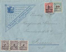 DR Brief Mif Minr.3x 325A Davon 1x HT,329A,334 Kempten 27.11.23 Novemberbrief - Deutschland