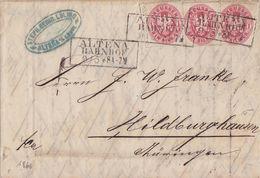 Preussen Brief Mef Minr.3x 16 R3 Altena Bahnhof 9.3. - Preussen