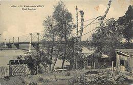 - Dpts Div- Ref -UU454- Allier - Environs De Vichy - Pont Bontiron - Ponts Suspendus - Cabanons - Carte Bon Etat - - Vichy
