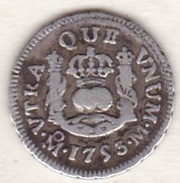 Mexico. 1/2 Real 1753 M, Mo. Ferdinand VI. KM# 67.1 , ARGENT - Mexique