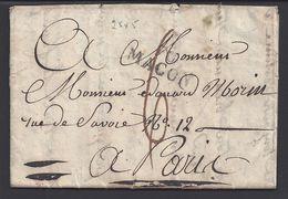 FR - 1824 - Pli De Macon, Marque Linéaire, Port Dû, Taxe Manuscrite 6 Décimes Pour Paris B/TB - - Marcophilie (Lettres)