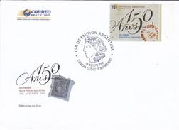 150 AÑOS DEL PRIMER SELLO POSTAL ARGENTINO 2006 - MATASELLO BUENOS AIRES - ARGENTINA/L'ARGENTINE - FDC - BLEUP - FDC