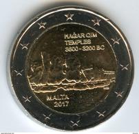 Malte Malta 2 Euro 2017 Temples Hagar Qim UNC - Malta