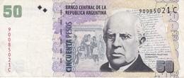 BILLETE DE ARGENTINA DE 50 PESOS  (BANKNOTE) DOMINGO FAUSTINO - Argentina