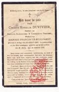 DP Coleta Rosalia Duvivier / Perneel ° Ardooie 1807 † 1895 X Joannes F. Stolpaert - Devotion Images