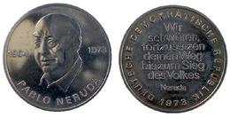 02821 GETTONE TOKEN JETON FICHA EAST GERMANY PABLO NERUDA DEUTSCHE DEMOKRATIC REPUBLIK 1973 - Unclassified