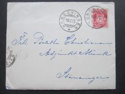 Norwegen 1906 Freimarken Posthorn Brief Mit Inhalt Kongsvinger - Stavanger - Briefe U. Dokumente