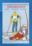 Anno1992 - Brusson.( Aosta ) 8°Campionato Italiano Di Sci. Vigili Del Fuoco , Annullo Filatelico. Vedi Descrizione.  (F) - Sport Invernali
