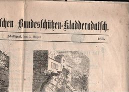 ! Kladderadatsch 1875 Stuttgart Bundesschützenzeitung + Beilage, Werbeanzeigen, Reklame - Magazines & Newspapers