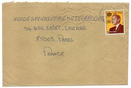 Maroc--1990--lettre De BERKANE   Pour PARIS (France)--timbre Seul Sur Lettre ---  Cachet - Maroc (1956-...)