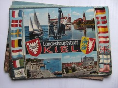 Duitsland Deutschland Schleswig Holstein Kiel Landeshauptstadt Und Flaggen - Kiel