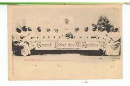 CPA-88-CONTREXEVILLE-GRAND HOTEL DES 12 APOTRES-ANIMEE-PERSONNAGES REPRESENTANT LA SCENE- - Vittel Contrexeville