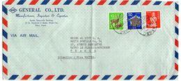 Japon--1980--lettre De CHIBA  Pour PLESSIS-ROBINSON-92 (France)--Composition De Timbres -beaux Cachets- GENERAL CO  LTD - 1926-89 Emperor Hirohito (Showa Era)