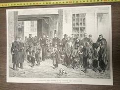 ENV 1880 LA DISTRIBUTION DES SOUPES A LA CASERNE DES GRENADIERS D ALFRED HUBERT - Sammlungen