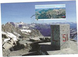 Borne Frontière Boundary Marker Grenzstein Cippo Di Confine Hito Geográfico Montagne Mountain - Liechtenstein