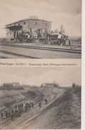 57 - PUTTELANGE - 2 VUES - CONSTRUCTION DE LA VOIE DE CHEMIN DE FER - FARSCHVILLER - SUPERBE CARTE - Puttelange