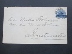 Schweden Ca. 1889 Ganzsachenumschlag Mit Aufdruck / Aufbruauchsausgabe! - Storia Postale