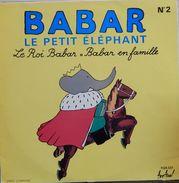 François Perier & Jean Desailly 33t. LP *babar Le Petit Elephant* N°2 - Kinderen