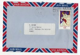 Canada-1986--lettre Pour MONTAGNY Ste FELECITE-60 (France)-timbre (Noel 68)  Seul Sur Lettre -cachet- - 1952-.... Règne D'Elizabeth II