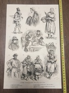 ENV 1880 TYPES POPULAIRES BELGES BAIGNEUR D OSTENDE ETC... - Verzamelingen