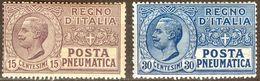 Italy 1921-23 Posta Pneumatica 15+30 C. MNH** - Lot. REPN2-PN3 - Posta Pneumatica