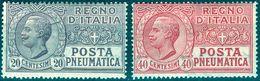 Italy 1925 Posta Pneumatica 20+40 C. MNH** - Lot. REPN8-PN9 - 1900-44 Victor Emmanuel III.
