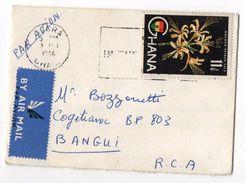 Ghana--1966--lettre De ACCRA Pour BANGUI (Répub CENTRAFRICAINE)--timbre Seul Sur Lettre--cachet - Ghana (1957-...)