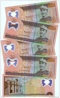1 BANKNOTE DOMINICAN REPUBLIC 20 PESOS ORO NEW  NOTE 2010  UNC POLYMER - Repubblica Dominicana
