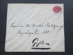 Schweden 1914 Ganzsachenumschlag Nach Gafle. Stempel Gafle TUR. O. Wilh. Dahlgren Ingeniör Sala - Storia Postale